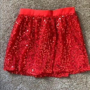 Girl's Ruby sequin skirt